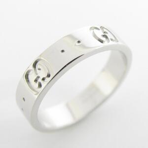 GUCCI Gucci Icon Ring Ladies K18WG 750 White Gold No. 6.5