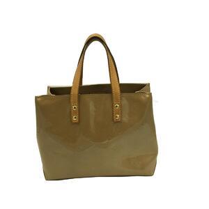 LOUIS VUITTON Reed PM Tote Bag Ladies Noisette Verni M91334