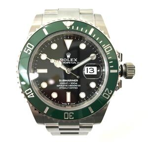 ROLEX Green Submariner Watch Men's Automatic Stainless Steel SS 126610LV