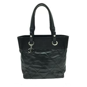 CHANEL Paris Biarritz PM Tote Bag Ladies Calf Leather A34208