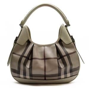 Burberry Shoulder Bag Beige PVC Leather Ladies