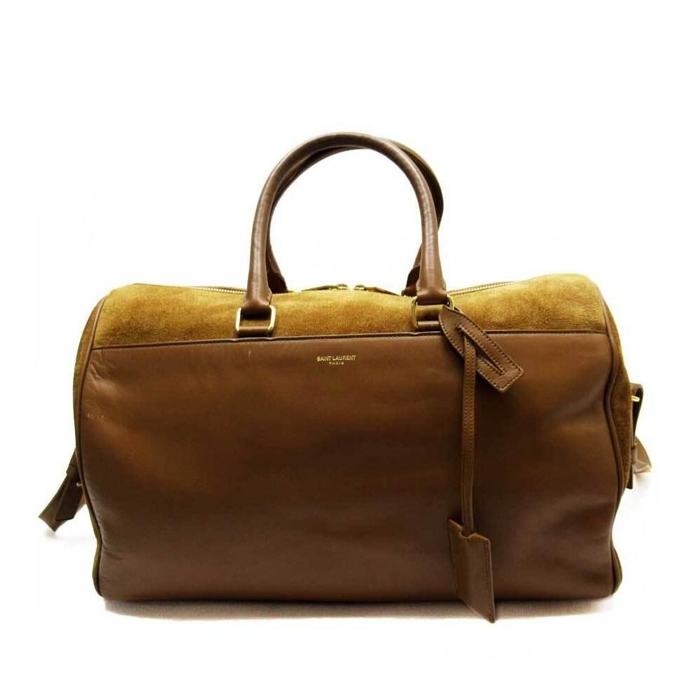 Saint Laurent SAINT LAURENT Handbag Shoulder Bag 2Way Duffle Leather Suede
