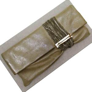 Jimmy Choo JIMMY CHOO Clutch Bag Party CHANDRA SAND Leather Ladies