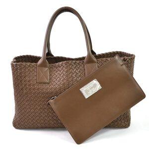 Bottega Veneta Handbag Tote Bag Intrecciato Hippo Brown Leather Ladies