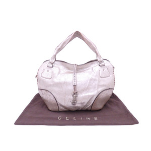 Celine CELINE Handbag Silver Beige Leather