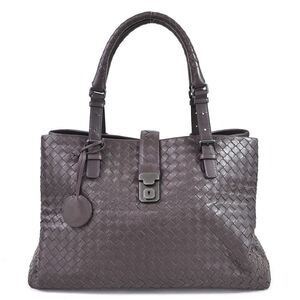 Bottega Veneta Handbag Intrecciato Brown Leather Ladies