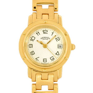 Hermes HERMES Clipper 750YG Ladies Watch White Dial CL4.285