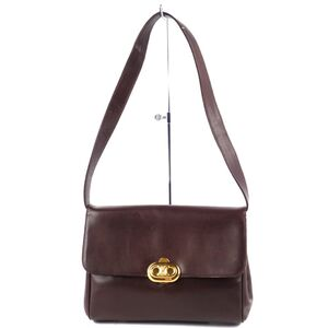 Celine CELINE 2way Triomphe Shoulder Bag Leather Brown Ladies