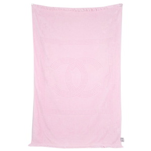 Chanel Sports Line CHANEL Coco Mark Beach Towel Ket Cotton 179 × 110 Pink