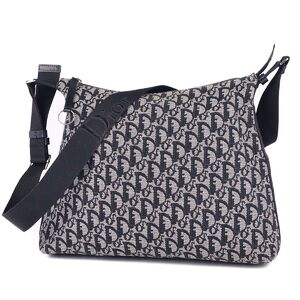 Christian Dior Trotter Shoulder Bag Crossbody Ladies Gray Black