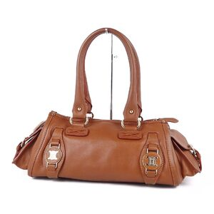 Celine CELINE Triomphe Handbag Semi-shoulder Bag Ladies Brown