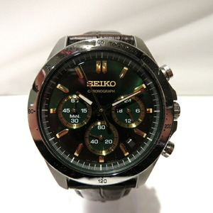 Seiko Spirit Chronograph Green Dial BT63-00D0 Quartz Watch Men's
