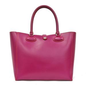 LOEWE Loewe Shoulder Bag Leo Leather Tote Pink Ladies