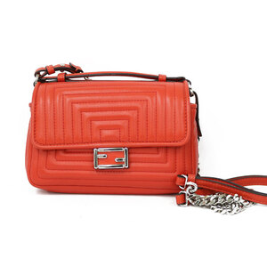FENDI Fendi Shoulder Bag W Micro Baguette Orange Ladies