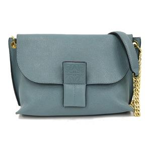 LOEWE Loewe Shoulder Bag Chain Blue Ladies