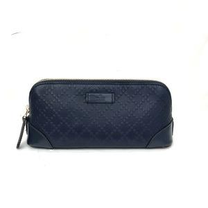 GUCCI Gucci pouch 354503 Diamande navy cosmetic multi-case accessory case leather ladies men's