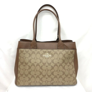 COACH Coach Tote Bag Signature Brown F31475 Semi-shoulder Ladies