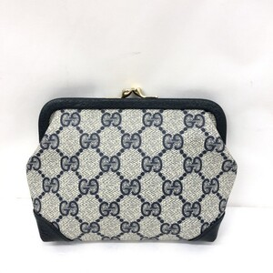 GUCCI Gucci old purse pouch GG pattern navy white multi-pouch accessory case ladies