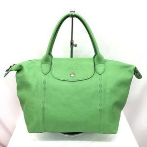 LONGCHAMP Longchamp Handbag 2WAY Green Leather Eco Bag Shoulder Ladies