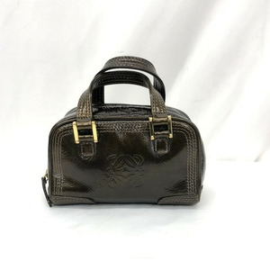 LOEWE Loewe Mini Hand Pouch Minia Masona Bronze Enamel Accessories Anagram Charm Ladies