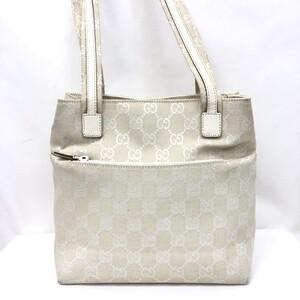 GUCCI Gucci Handbag GG Canvas 002.1075.002058 Leather Off-White Ladies