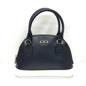COACH Coach Handbag F34517 Dome Satchel Midnight Chalk 2WAY Shoulder Bag Leather Ladies