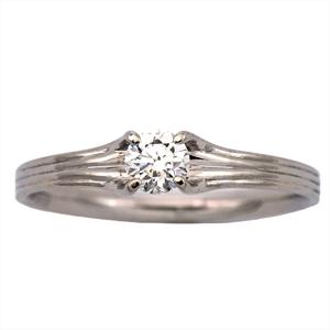 アーカー(AHKAH) フィルージュリング Pt900(プラチナ) 婚約&結婚式用 ダイヤモンド エンゲージリング カラット/0.172 プラチナ