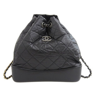 CHANEL Gabriel de Chanel backpack black 24 series leather bag