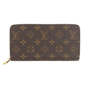 LOUIS VUITTON Monogram Zippy Wallet M42616 Leather