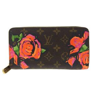 LOUIS VUITTON Monogram Rose Zippy Wallet Long M93759 Leather