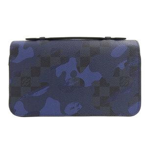 LOUIS VUITTON Louis Vuitton Damier Cobalt Zippy XL Camouflage Wallet N63287 Leather