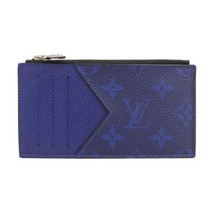 LOUIS VUITTON Louis Vuitton Taigarama Monogram Coin Card Holder Case Cobalt Blue M30270