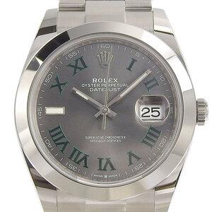 Rolex ROLEX Datejust 41 Men's Automatic Gray Roman Dial 126300 Random Watch