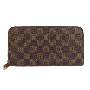LOUIS VUITTON Louis Vuitton Damier Zippy Wallet Long N60015 Leather