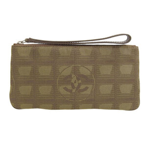 CHANEL New Travel Line Coco Mark Pouch Beige 7s