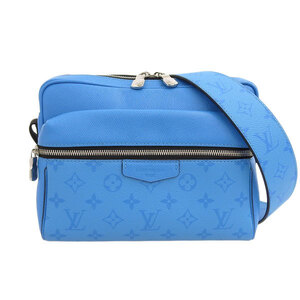 LOUIS VUITTON Louis Vuitton Thai Garama Outdoor Messenger PM Blue M30429 Leather Bag
