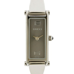GUCCI Gucci Watch Bangle 1500L Silver Gray Ladies Stainless Steel