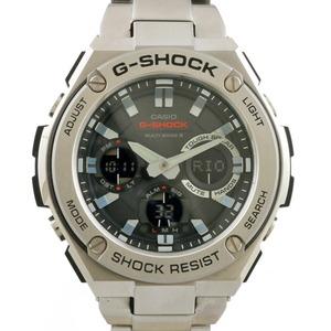 G-SHOCK watch multi-band 6 GST-W110D-1AJF silver black men's stainless steel