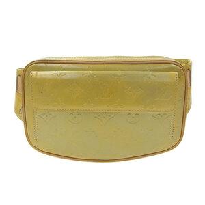LOUIS VUITTON Louis Vuitton Verni Fulton Waist Bag Yellow M91043 Leather