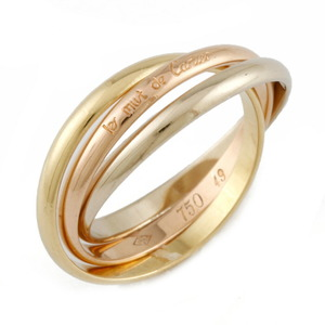 CARTIER Cartier K18 YG WG PG Ring Trinity Triple 3 Color No. 9 Gold Ladies Yellow White
