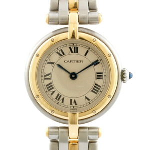 CARTIER Cartier Watch Panther 1 Low Silver Gold Ladies Stainless Steel