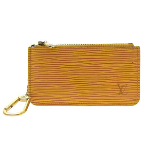 LOUIS VUITTON Epi Pochette Cle Coin Case Yellow