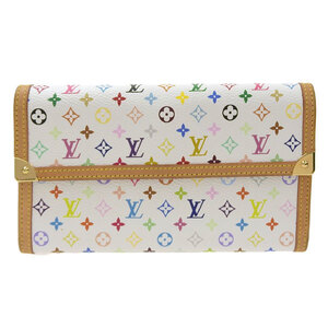 LOUIS VUITTON multicolored Portofeuil International tri-fold wallet Bron M92659 leather