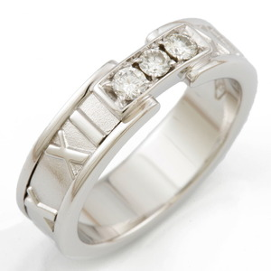 TIFFANY & Co. Tiffany K18WG Ring Atlas Diamond No. 12 Ladies K18 White Gold