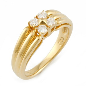 Christian Dior Dior K18 Ring Diamond No. 11 Gold Ladies