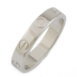 CARTIER Cartier K18WG Ring Mini Love No. 11 Silver Ladies K18 White Gold