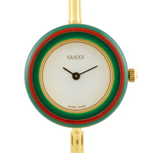 GUCCI Gucci Gold Plating Watch Change Bezel Bangle 12 Colors Multicolor Ladies