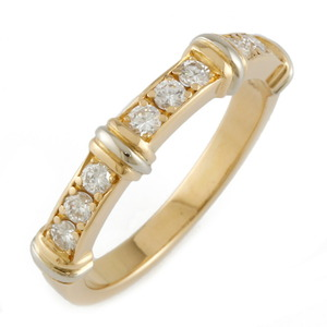 CARTIER Cartier K18 K18WG Ring Contessa Half Diamond No. 14.5 Gold Ladies White
