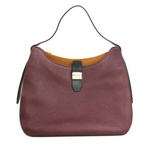 Furla Shoulder Bag Brown Gray Ladies