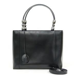 Christian Dior Shoulder Bag Handbag 2WAY Black Ladies